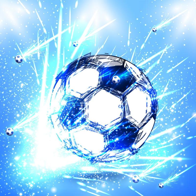 降り注ぐサッカーボール